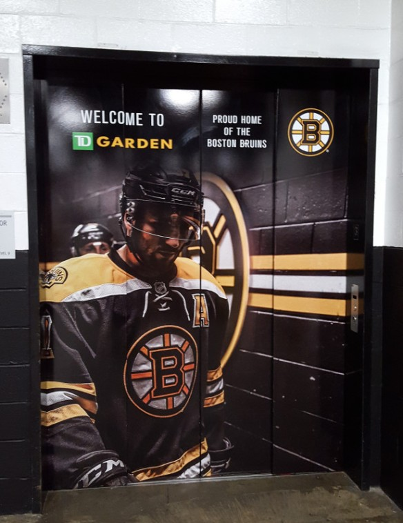 Boston TD Garden elevator door Bruins