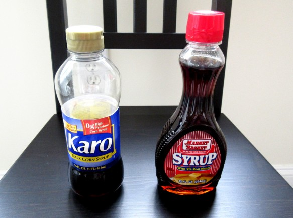 dark corn syrup is totally different from pancake syrup
