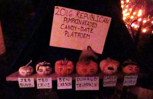 halloween decoration aspiring republican presidential candidates pumpkin heads