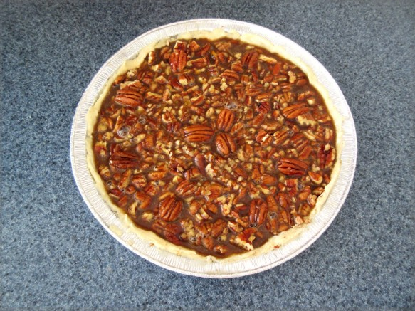pecan pie for thanksgiving before cooking