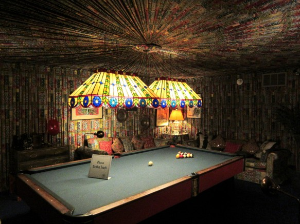 Elvis Graceland billiard room Memphis Tennessee