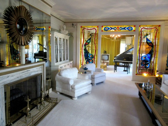 Elvis Graceland living room Memphis Tennessee